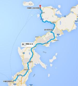 美ら海水族館へのアクセス-許田経由