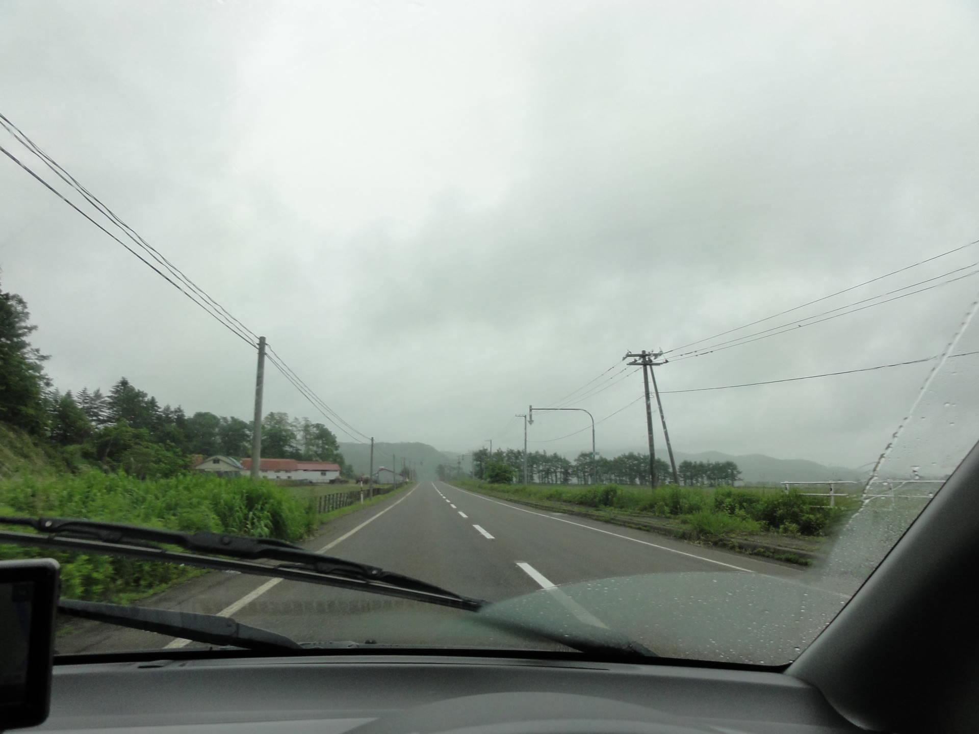 平取町へ行く道