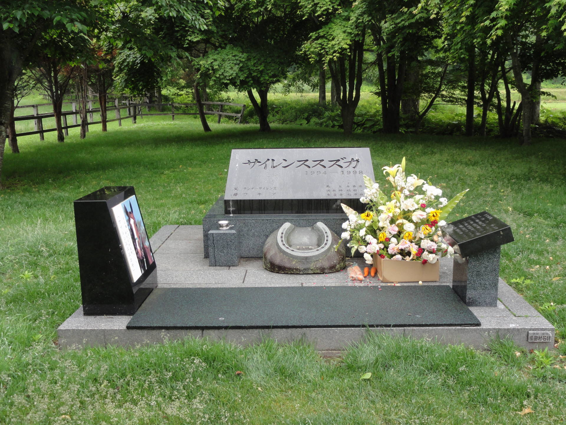 サイレンススズカのお墓 遠景