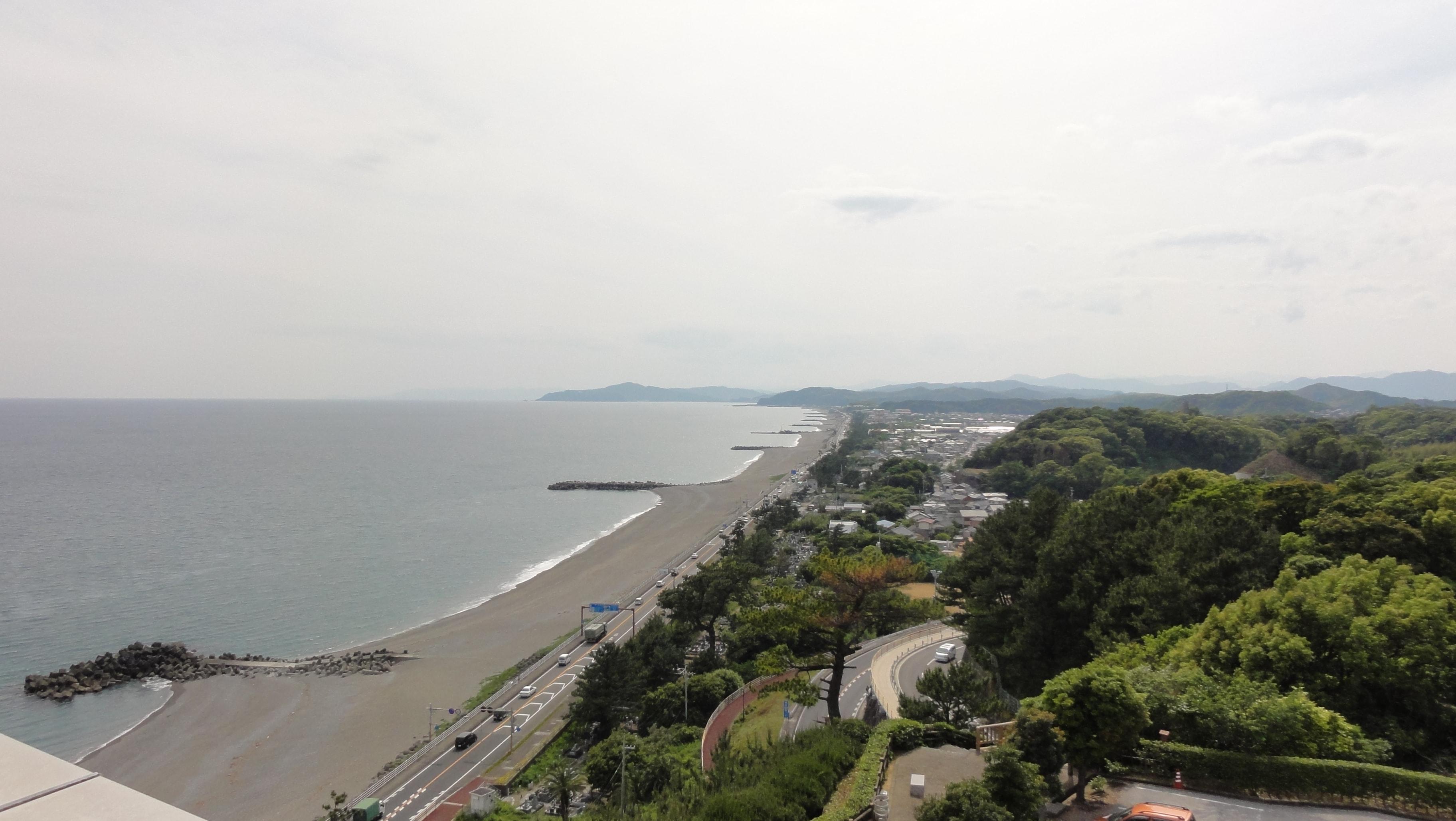龍馬記念館から見た海岸