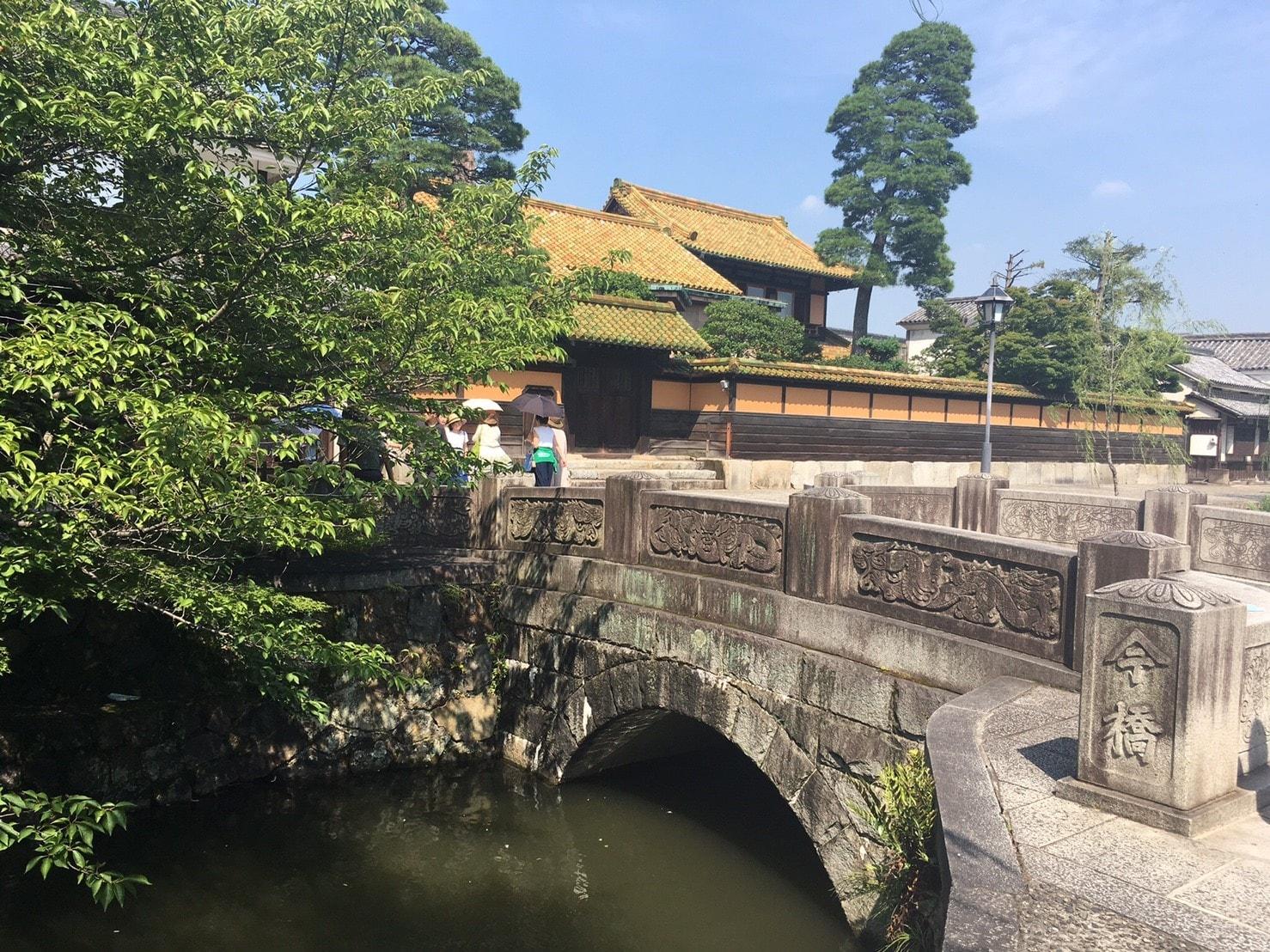 倉敷美観地区の有隣荘と今橋