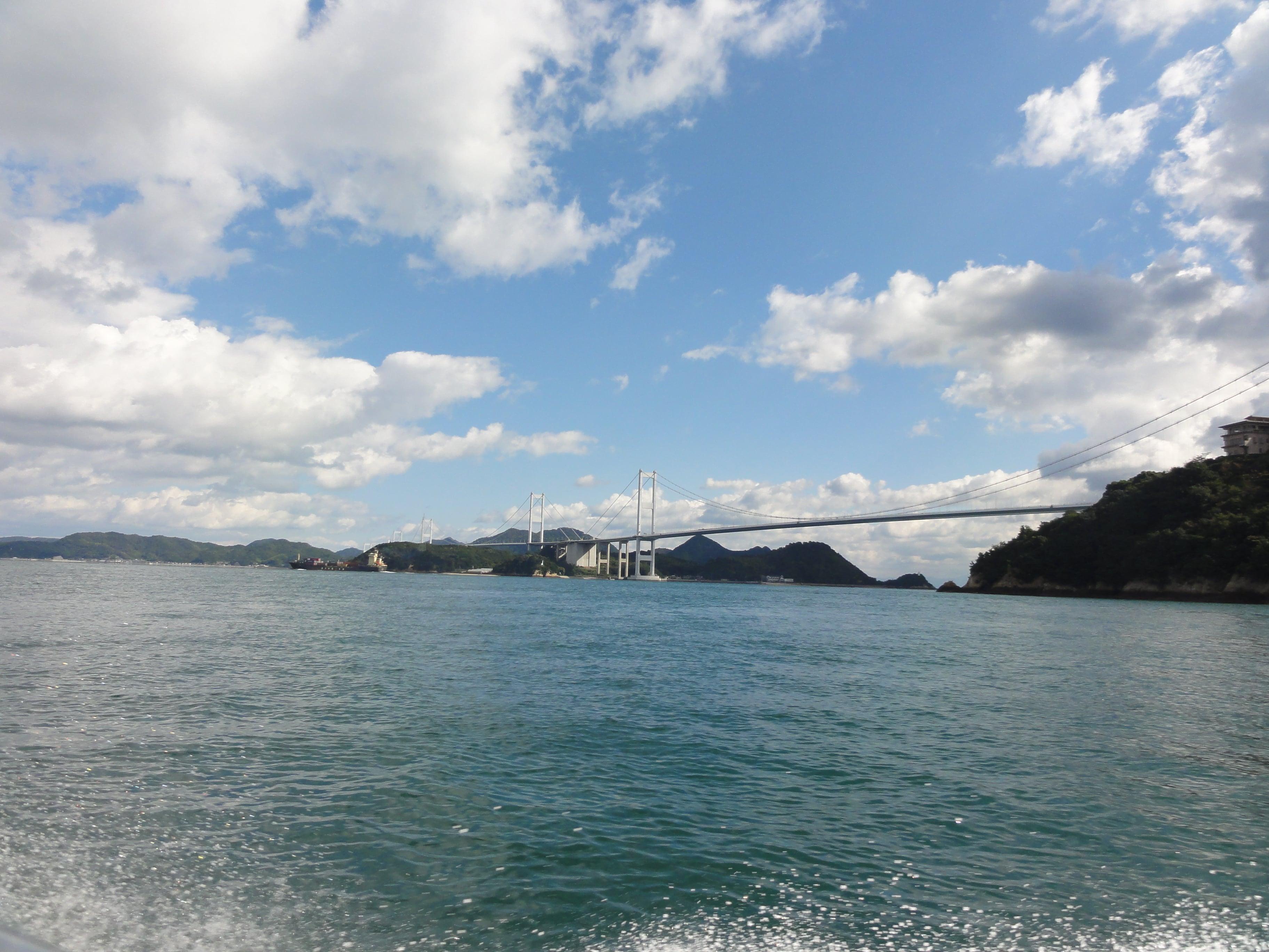 来島海峡の遠景