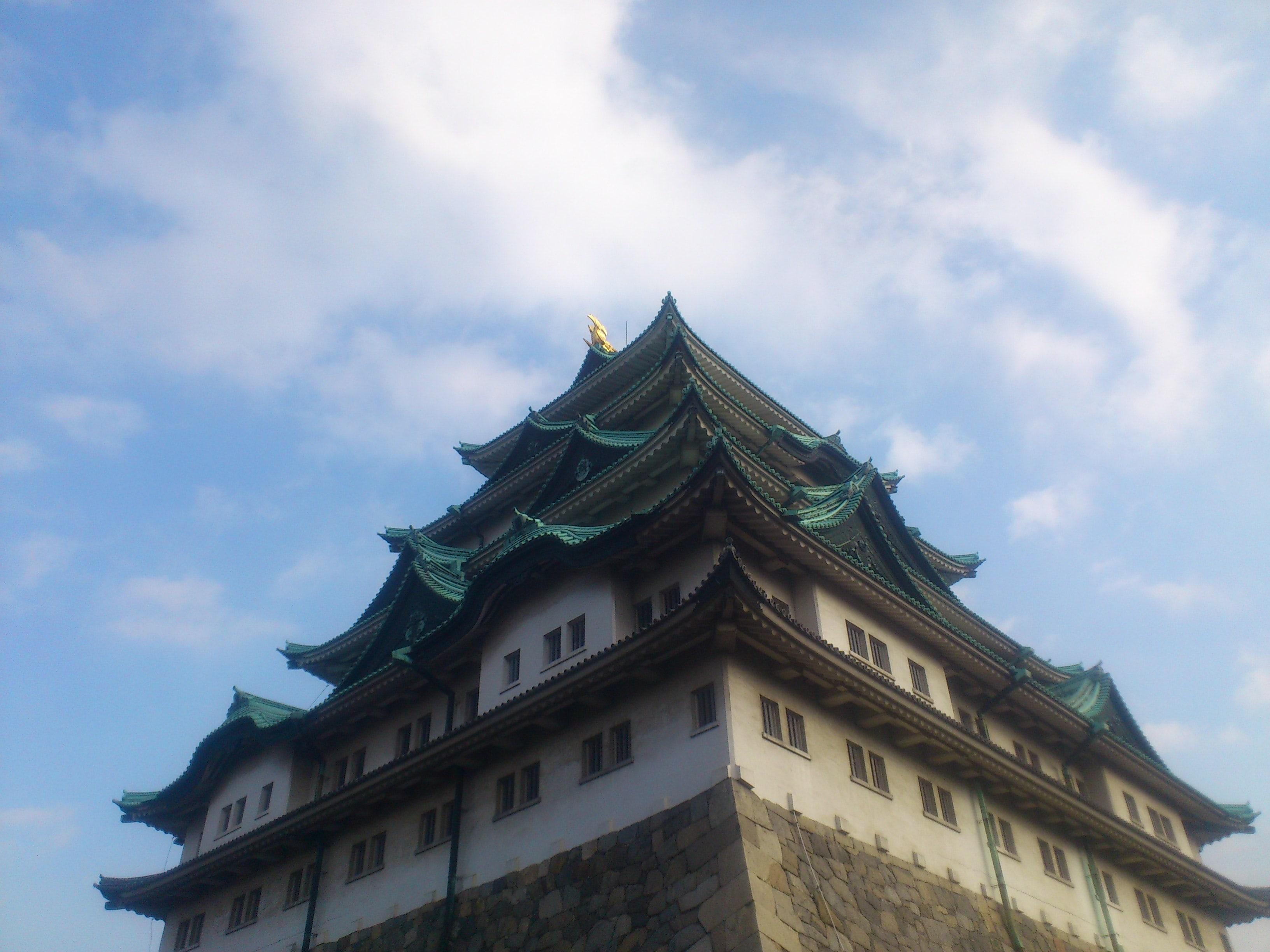 名古屋城下から
