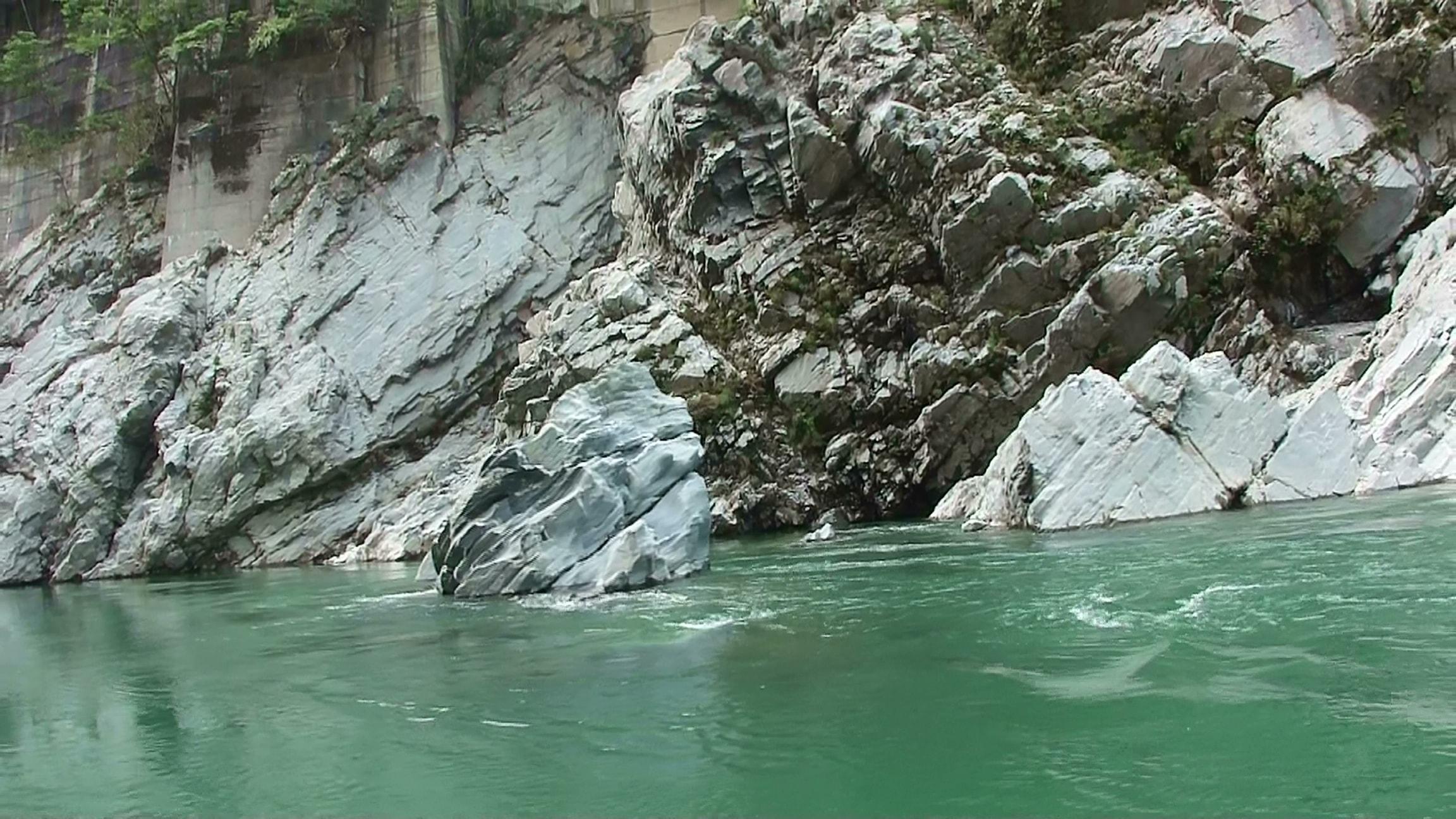 大歩危峡 ライオン岩