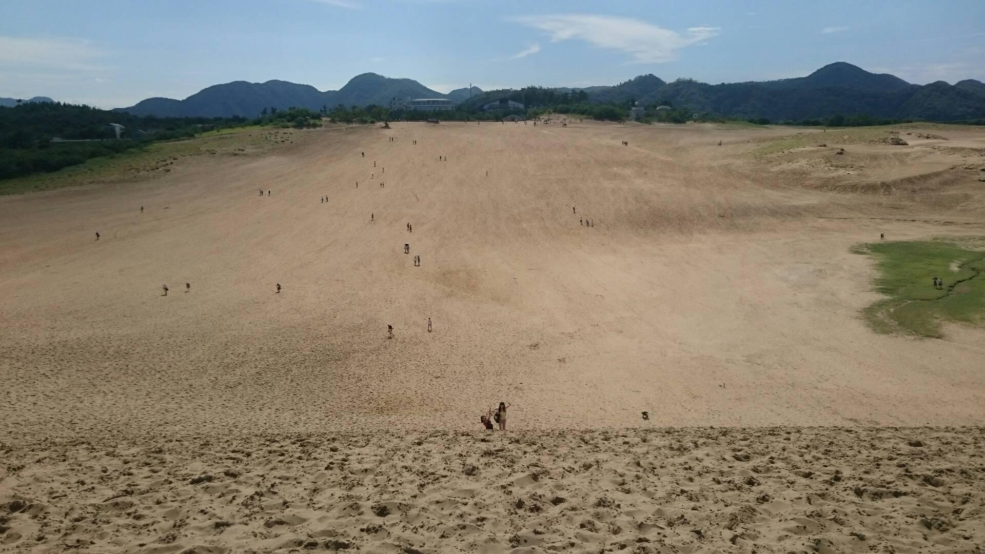 鳥取砂丘の馬の背上から