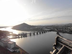 犬山城からの眺め-木曽川を望む