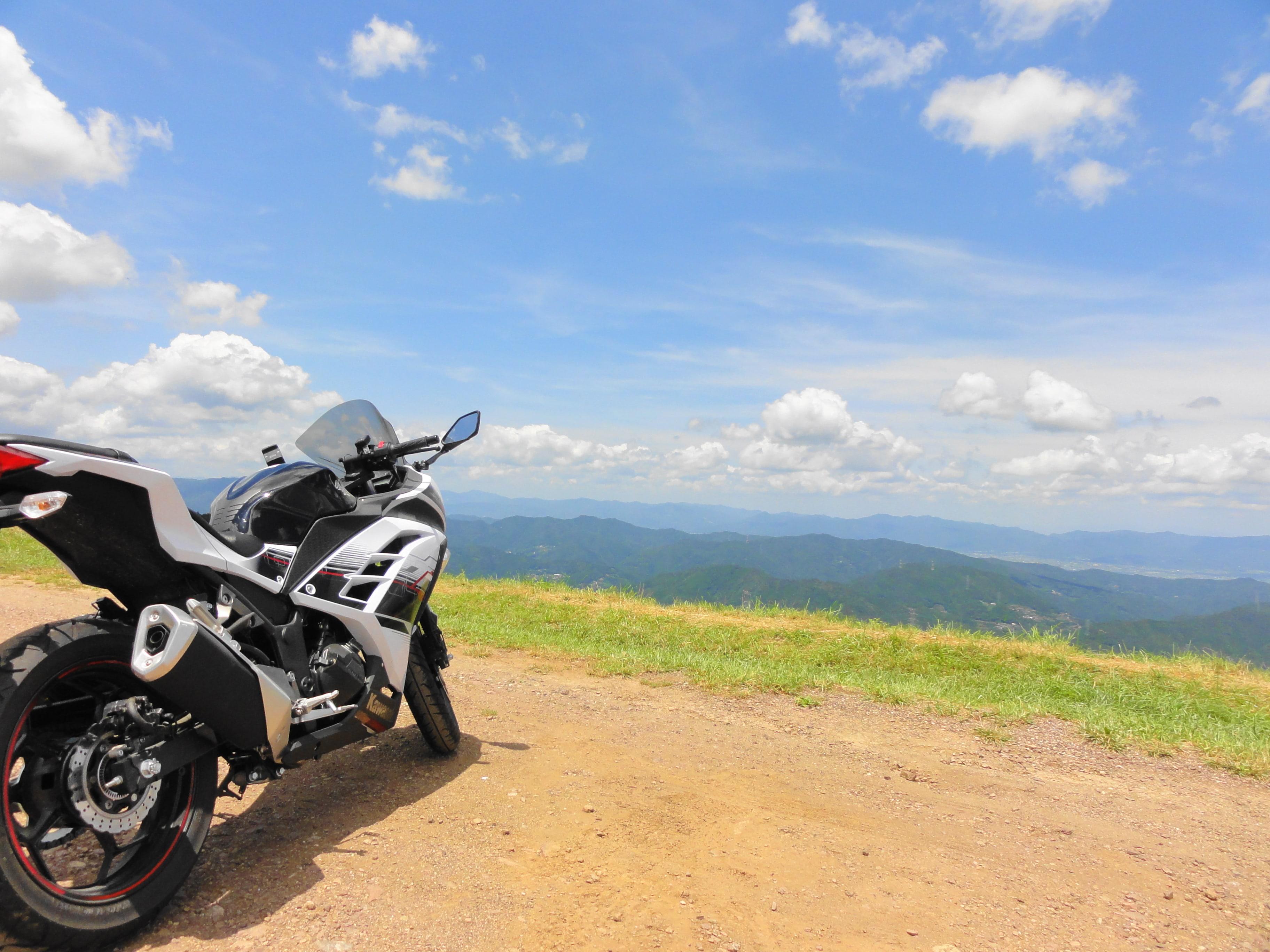 大川原高原とバイク