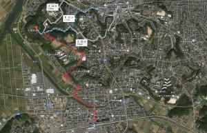 佐倉駅及び京成佐倉駅から佐倉城へのアクセス