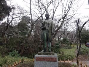 佐倉城 タウンゼントハリス像