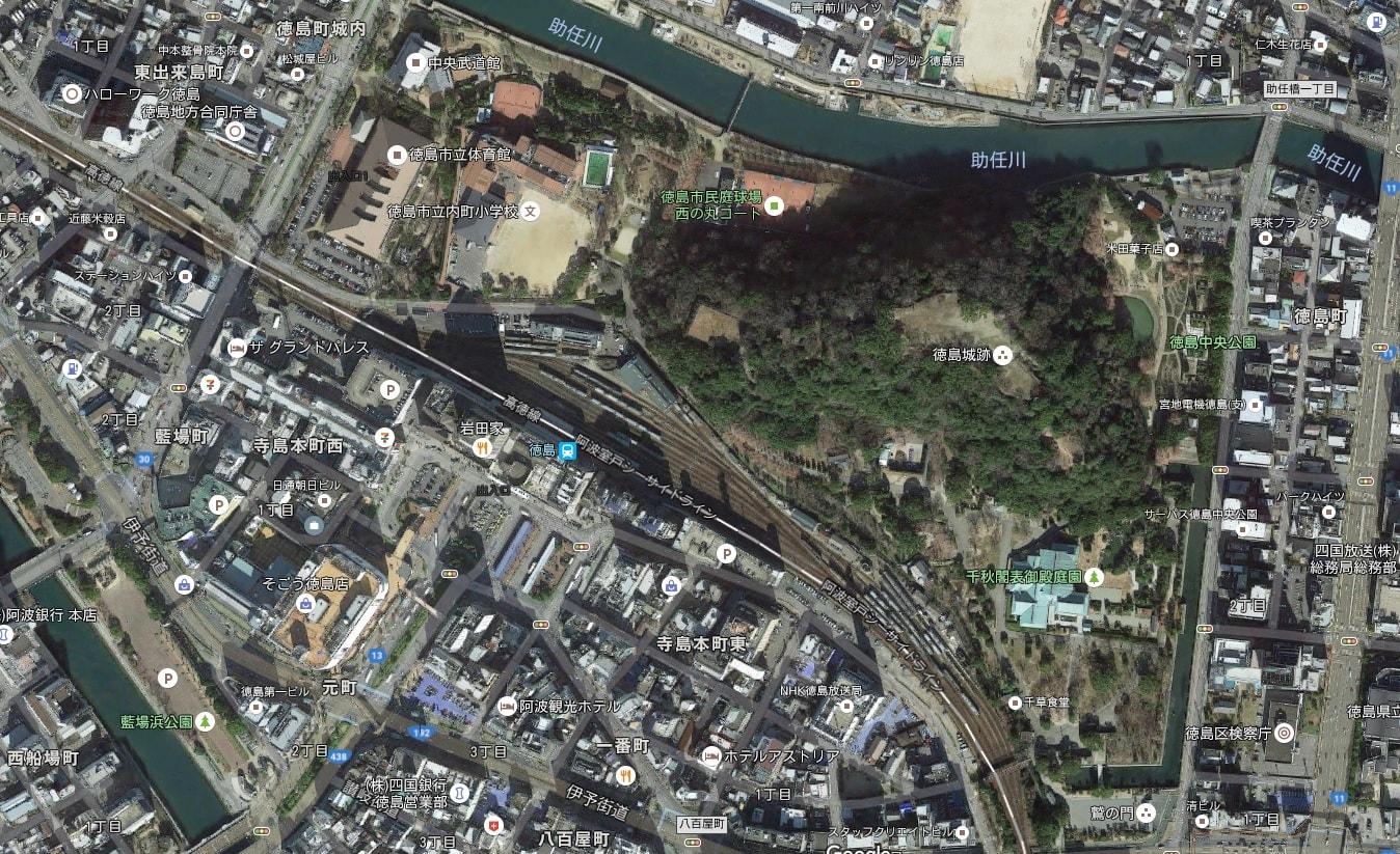 徳島中央公園周辺地図