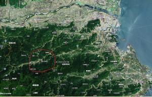 神山町の場所の地図