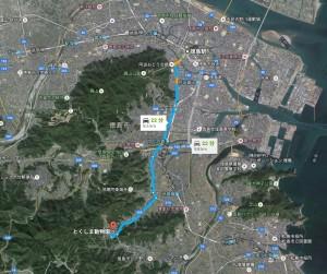 徳島駅からとくしま動物園へのアクセス