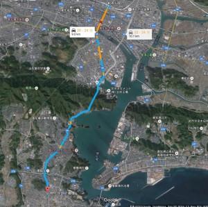 高知駅から長曾我部元親 初陣の像までのアクセス